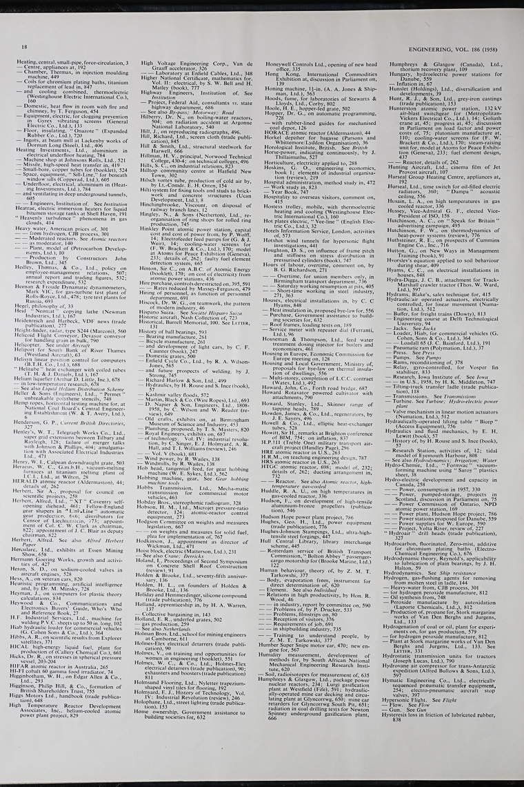 Engineering 1958 Jul-Dec: Index - Graces Guide