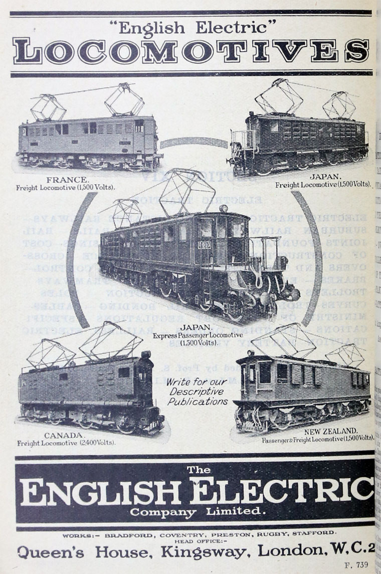 English Electric Co Graces Guide
