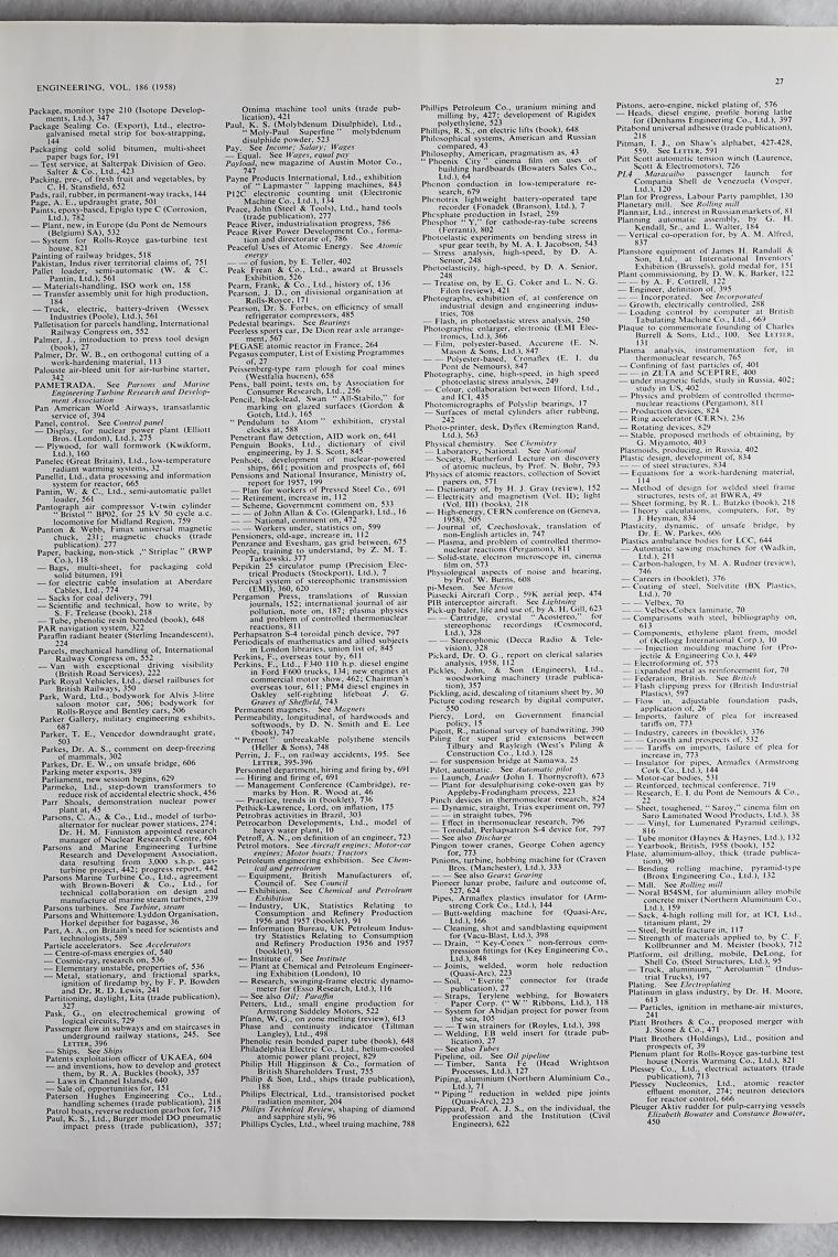 Engineering 1958 Jul Dec: Index Graces Guide